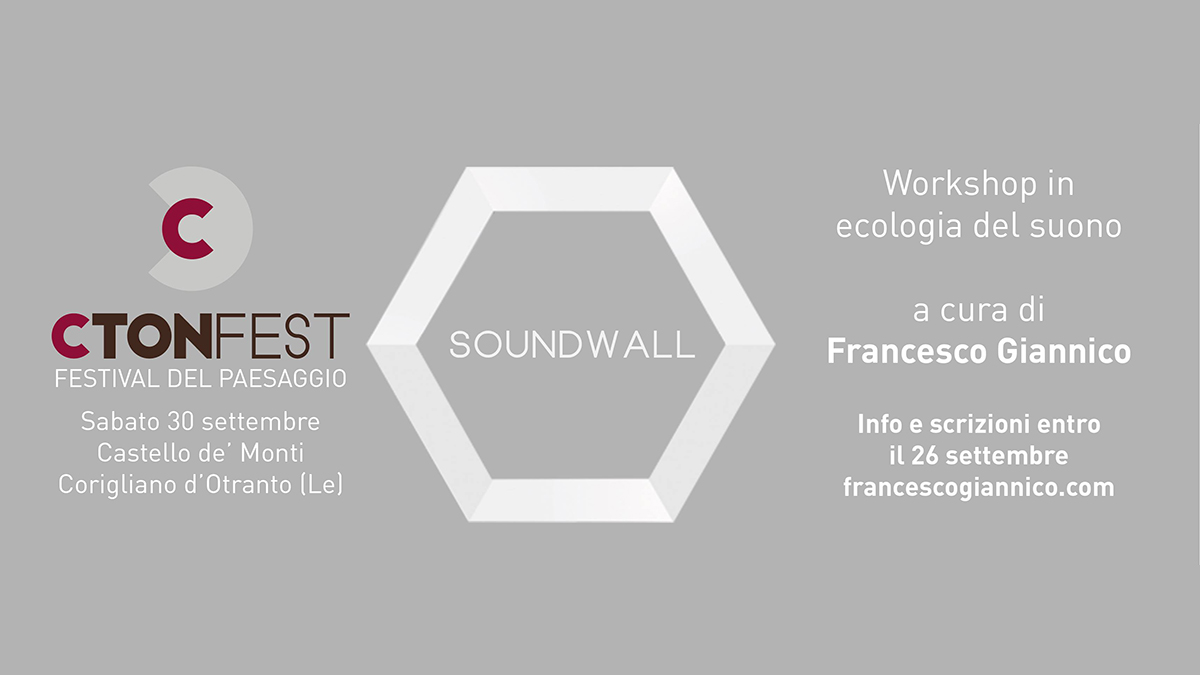 Francesco Giannico in una nuova Soundwall
