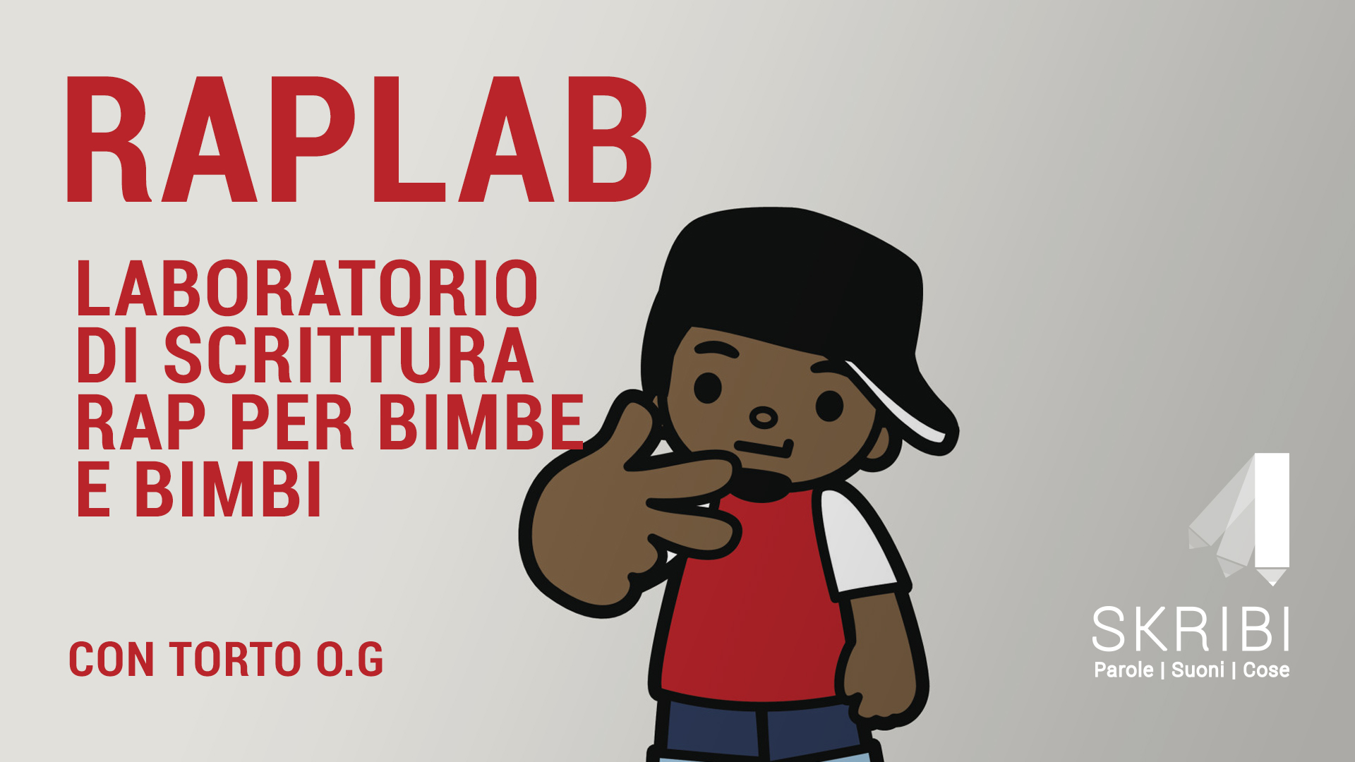 RapLab_il primo laboratorio di RAP per i bimbi e le bimbe di Skribi