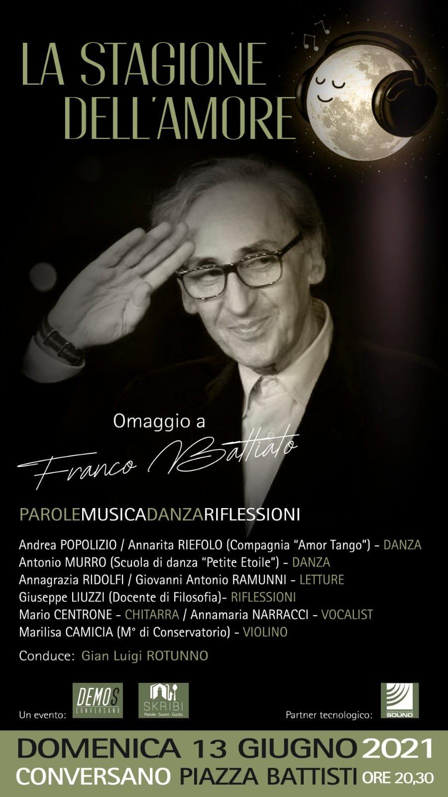 La stagione dell'amore_serata in memoria di Franco Battiato